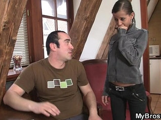 She spreads legs for new cock